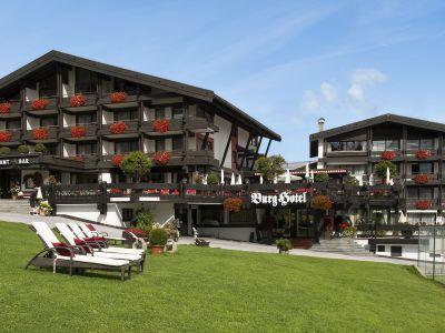 Burg Hotel Außenansicht Gebäude